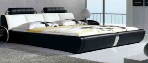 KING  SILAS LEATHERETTE   BED  (CD053) -  ASSORTED COLORS AVAILABLE