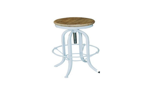 VEMINO INSTUSTRIAL ADJUSTABLE  STOOL WITHOUT BACK (WOST-019) - SEAT: 620 - 800(H)  - WHITE