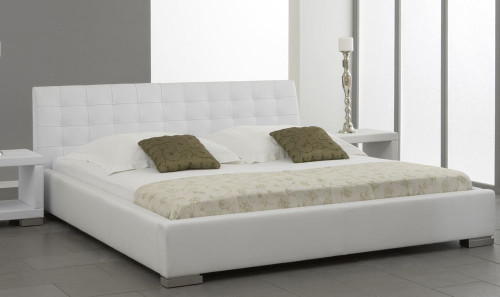 KING SARINA LEATHERETTE   BED  (CD061) -  ASSORTED COLORS AVAILABLE