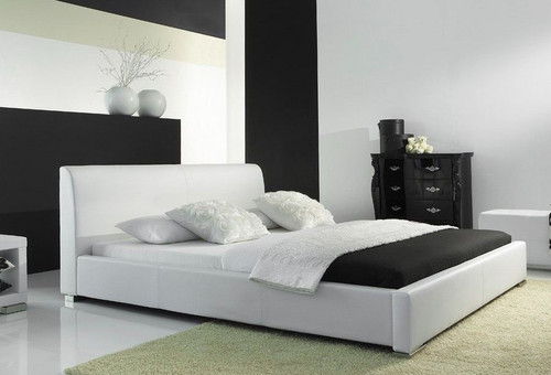 KING FOBIS LEATHERETTE   BED  (CD063) -  ASSORTED COLORS AVAILABLE