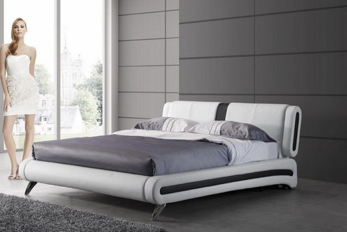 QUEEN  KELLY LEATHERETTE BED (CD065) - ASSORTED COLORS   AVAILABLE