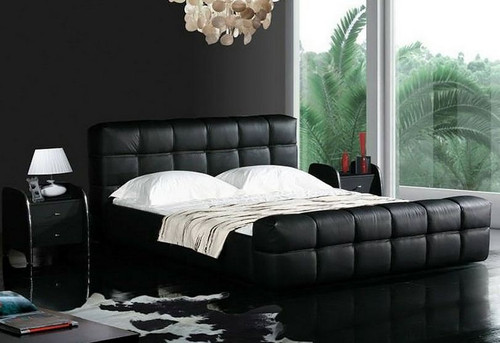 KING EGOTOP  LEATHERETTE   BED  (CD066) -  ASSORTED COLORS AVAILABLE