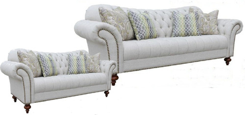 HAMAN   3S + 2S FABRIC LOUNGE SUITE - (MODEL - 12-15-21-9-19-91-14-1) AS PICTURED