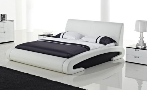 QUEEN MEPHIL  LEATHERETTE BED (B9057) - ASSORTED COLORS AVAILABLE