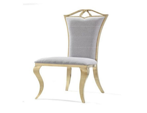 BOSS UPHOLSTERED DINING CHAIR   (MODEL-3-15-1-3-8)  - BRONZE, COPPER OR NICKEL