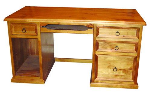 JAMIESON COMPUTER DESK (WCDH-4D) -1450(W) X 700(D)  - SOLID TIMBER