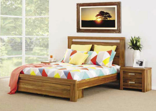 KING MARATHAH BED WITH 2 UNDERBED DRAWERS - NATURAL