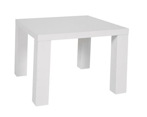 WAVERLEY SQUARE LAMP TABLE (600MM x 600MM)  -  WHITE OR BLACK GLOSS