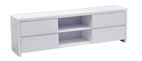 WAVERLEY 4 DRAWERS LOWLINE ENTERTAINMENT UNIT 1800(W) x 395(D)-  GLOSS WHITE
