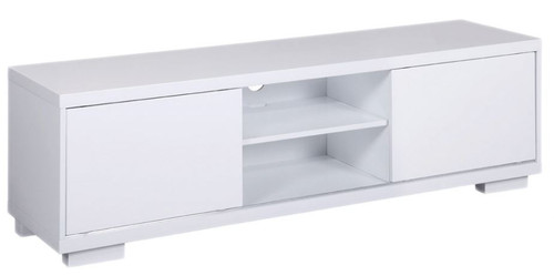 WAVERLEY  LOWLINE ENTERTAINMENT UNIT WITH SLIDING DOORS 1800(W) x 395(D) - GLOSS WHITE