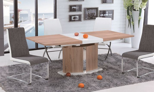 MARINO (OST0002) 7 PIECE  EXTENSION DINING SETTING  (1300MM - 1700MM )  -  OAK / WHITE