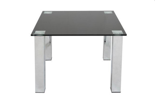 KIAMA  SQUARE LAMP TABLE 600MM  x 600MM -  BLACK OR CLEAR GLASS