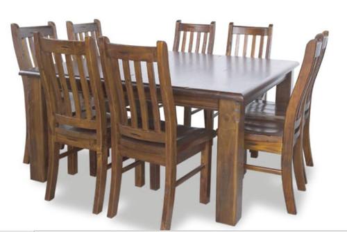 JAMAICA  7  PIECE TIMBER  DINING SETTING (MODEL-JVM 005/004)