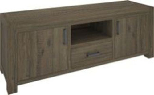 YARRA TV UNIT (VYR-017) WITH 2 DOORS / 1 DRAWER AND 1 NICHE - 1690(W) -MOCCHA