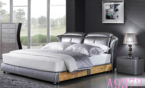EVANS KING   3 PIECE  LEATHERETTE 180#  BEDSIDE BEDROOM SUITE - (MODEL A9372)  - ASSORTED COLOURS