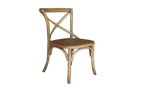 BARISTA (VBR-011) DINING CHAIR WITH RATTAN SEAT  - OAK