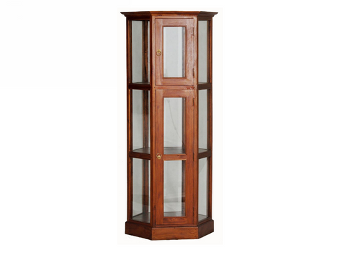 WILLY 1800(H) X 770(W) HEXAGONAL  DISPLAY CABINET (DC 200 HX)- ASSORTED COLOURS
