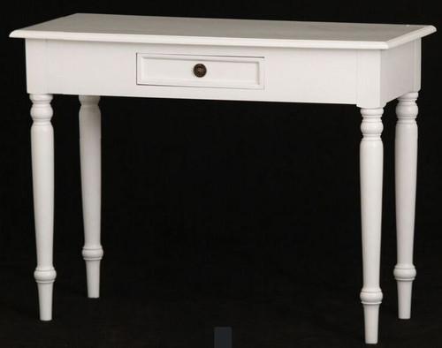 JKG TURN LEG 1 DRAWER SOFA  TABLE - 760(H) x 1000(W) x 450(D)  -  WHITE