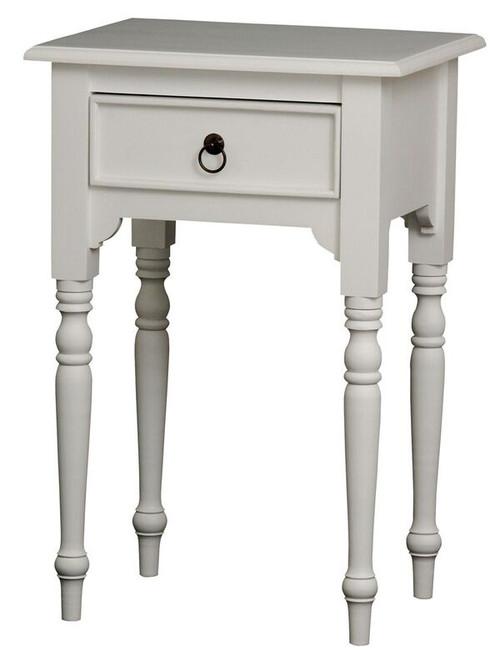 JKG TURN LEG 1 DRAWER SIDE  TABLE 750(H)  - WHITE