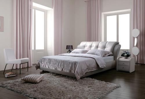 ALGERS QUEEN 3 PIECE   LEATHERETTE BEDSIDE (10#) BEDROOM SUITE  (A856) - ASSORTED COLOURS
