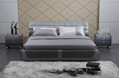 CEASAR QUEEN 3 PIECE  LEATHERETTE BEDSIDE (#24) BEDROOM SUITE  (A9032) - ASSORTED COLOURS