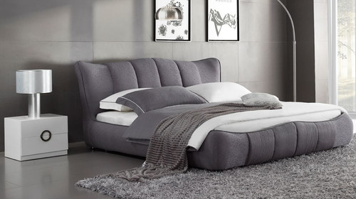 QUEEN  EMERON  FABRIC BED  (MODEL - B6160) - ASSORTED COLOURS (MADE TO ORDER)