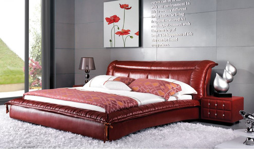 KING MALAYSIA LEATHERETTE BED  (A9360) - ASSORTED COLORS (MADE TO ORDER)