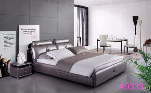 KANDESTON  QUEEN  3 PIECE LEATHERETTE BEDSIDE (132#) BEDROOM SUITE  (A9333) - ASSORTED COLORS (MADE TO ORDER)