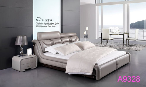 QUEEN DANIKA  LEATHERETTE  BED  (MODEL - A9328) - ASSORTED COLOURS (MADE TO ORDER)