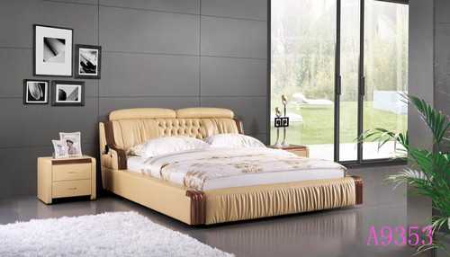 KING  MADYSON  LEATHERETTE  BED  (MODEL - A9353) - ASSORTED COLOURS (MADE TO ORDER)