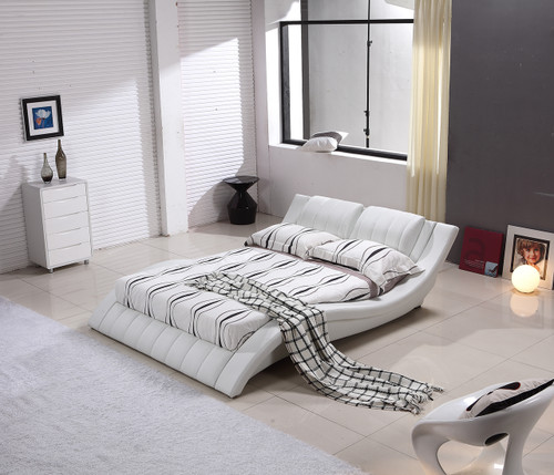 QUEEN (G1021#) LEATHERETTE BED - ASSORTED COLOURS AVAILABLE