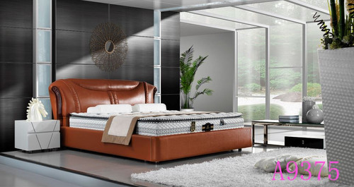QUEEN  LEATHERETTE  BED  (MODEL - A9379) - ASSORTED COLORS  (MADE TO ORDER)