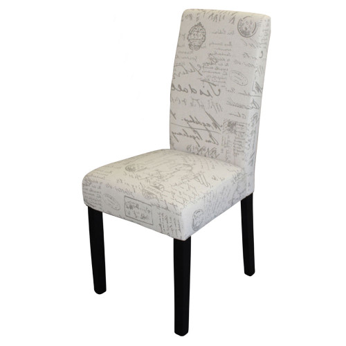 RAY DINING CHAIR WITH WENGE LEGS - SCRIPT FABRIC