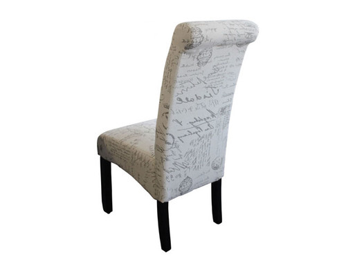 AVALON DINING CHAIR WITH WENGE LEGS - SCRIPT FABRIC