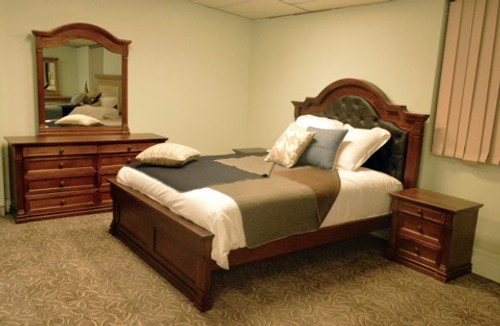 JEFFERSON QUEEN 6 PIECE (THE LOT)  BEDROOM SUITE -  (MODEL-14-1-16-15-12-5-15-14)  - AMERICAN CHESTNUT - (MORE PICTURES ATTACHED)