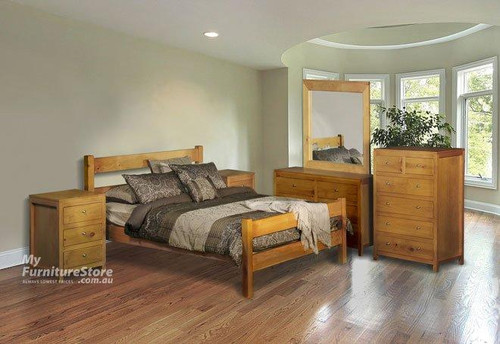 CHUNKY KING 6 PIECE BEDROOM SUITE - ASSORTED COLOURS
