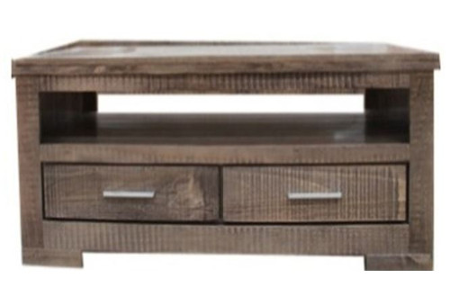 RUSTIC 2 DRAWER  COFFEE TABLE (RCTC) - 540(H) X 1210(W) X 660(D) - RUSTIC