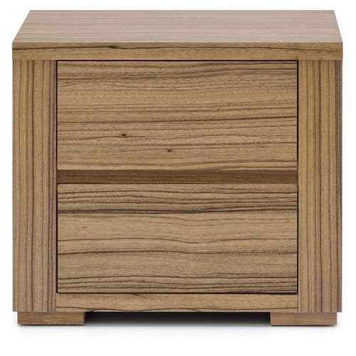 AKONI  2 DRAWER BEDSIDE TABLE (10-1-13-5-12)  -  NATURAL