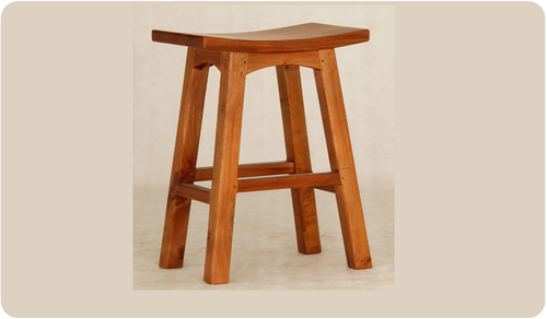 LATSON WOODEN BAR STOOL / KITCHEN BENCH (BR077WD) - SEAT: 770(H) - CARAMEL