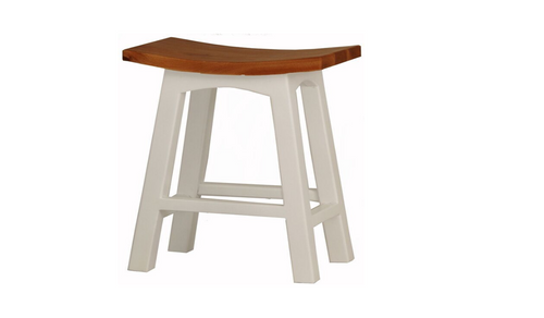 LATSON WOODEN BAR STOOL / KITCHEN BENCH (BR077WD) - SEAT: 770(H) - WHITE / CARAMEL