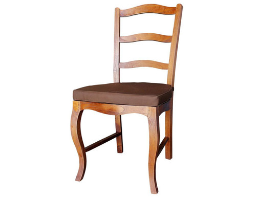 FRENCH PROVINCIAL DINING   CHAIR  WITH CUSHION   - LIGHT PECAN