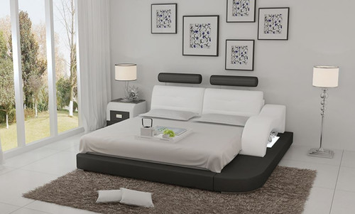 KING  SARATOGA  LEATHER BED ( LB8802) - ASSORTED COLORS AVAILABLE IN DIFFERENT  LEATHERS (COLOUR BOARD ATTACHED IN IMAGE SECTION)