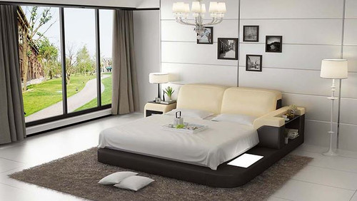 KING COLOMBUS  MODERN LEATHER BED ( LB8807) - ASSORTED COLOURS AVAILABLE IN DIFFERENT  LEATHERS (COLOUR BOARD ATTACHED IN IMAGE SECTION)