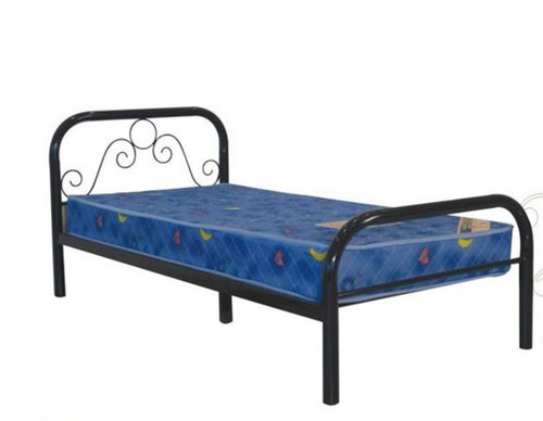 SINGLE NOEL  METAL  BED - BLACK OR WHITE