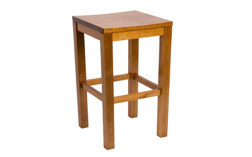 BREAKFAST BAR STOOL WITH TIMBER SEAT - SEAT: 730(H) - GREYWASH , HONEY , WALNUT