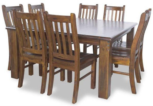 JAMAICA  7 PIECE SOLID TIMBER  DINING SETTING WITH 1800(L) x 1050(W)