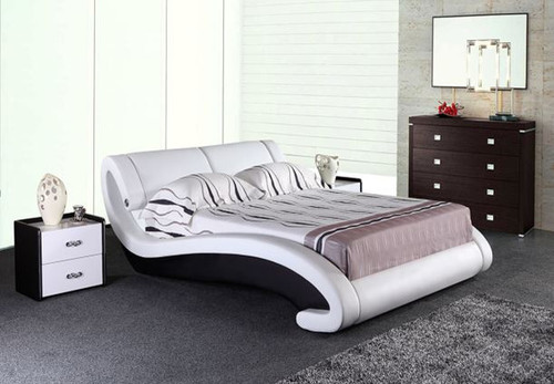 QUEEN  WESTHER  LEATHERETTE BED ONLY (G1029#) - ASSORTED COLORS