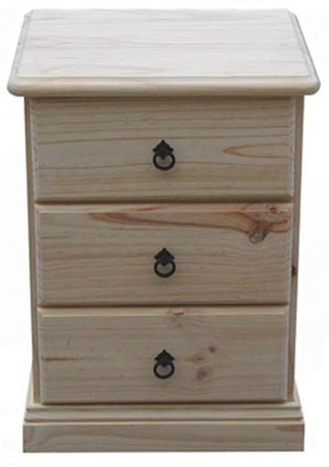 SIERRA (CSA113) 3 DRAWER BEDSIDE (MODEL 19-1-22-1-14-14-1-8) - ASSORTED COLOURS AVAILABLE