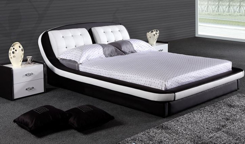 QUEEN  SWAHILLY  LEATHERETTE BED ONLY (G1028#) - ASSORTED COLORS