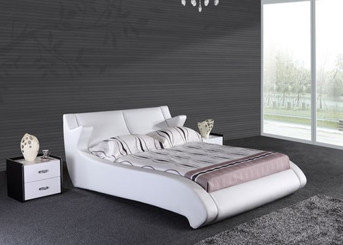 QUEEN LACOUSTER  LEATHERETTE BED ONLY (G1025#) - ASSORTED COLORS